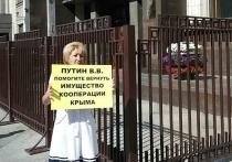 Крымчане под стенами Госдумы РФ просят Путина вернуть имущество потребкооперации Крыма